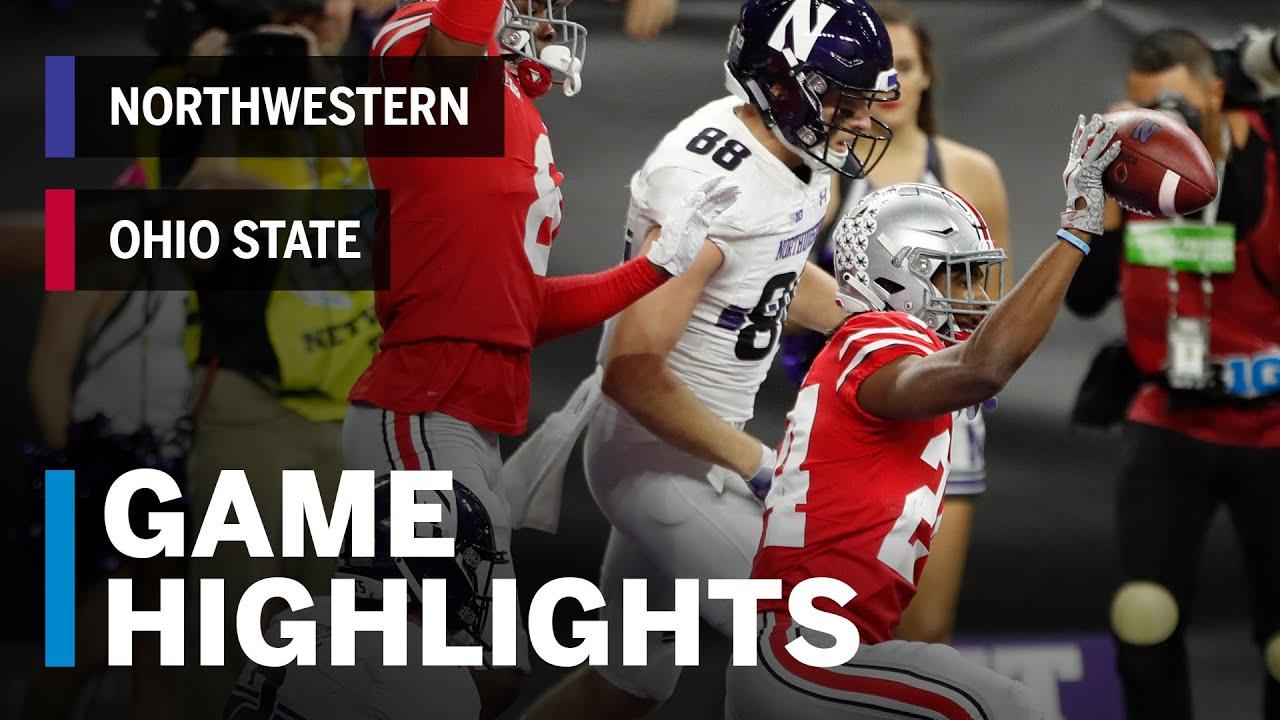 2018 Big Ten Football Championship Northwestern Wildcats vs. Ohio State  Buckeyes 7689fba93